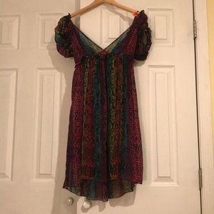 Betsy Johnson multi colored snakeskin print dress